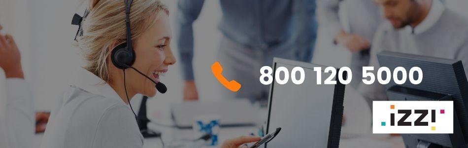 Números de Teléfonos de atención a clientes Izzi sin costo