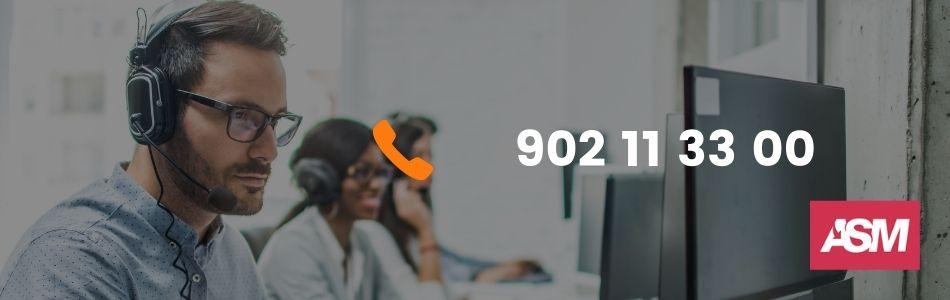 Teléfonos ASM para la atención al cliente